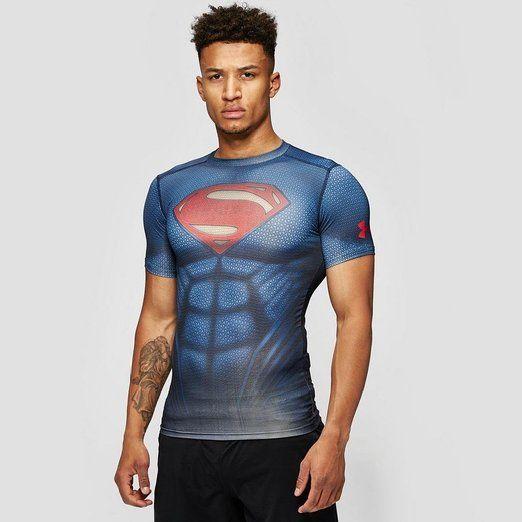 Instant Sixpack, Superman Under Armour Herren T-Shirt Blau