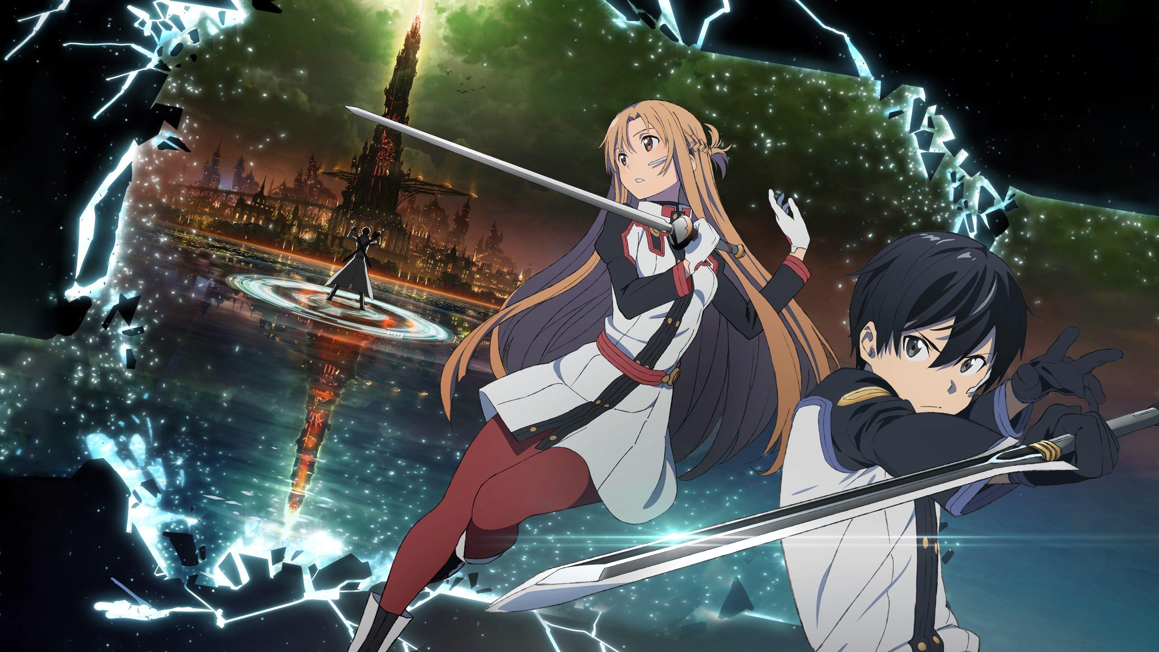 4k Wallpaper Sword Art Online Movie Ordinal Scale 3840x2160