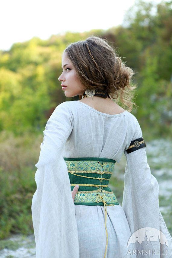 010ccef0d6 Medieval Renaissance Linen Corset Belt Mistress of by armstreet ...