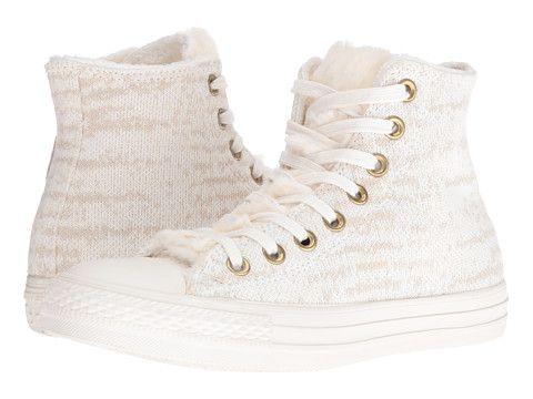 Converse Chuck Taylor® All Star® Knit + Fur Hi Vaporous Grey