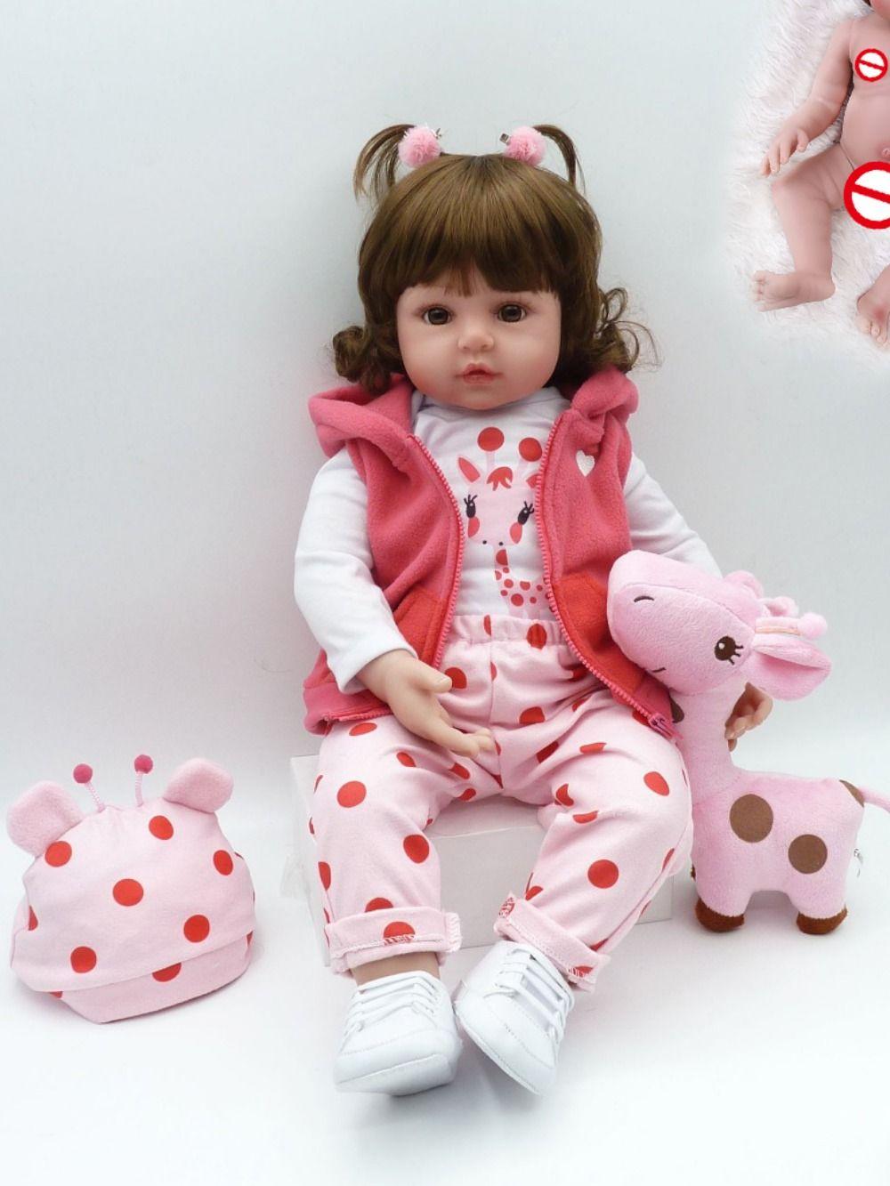 "Reborn Baby Dolls Lifelike Newborn Soft Silicone Vinyl Girl Reboen Dolls 19/"""