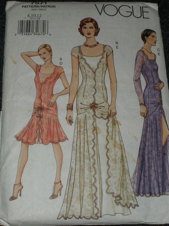 Vogue Patterns dress 1920 | Vogue pattern 7571 evening gown cocktail ...