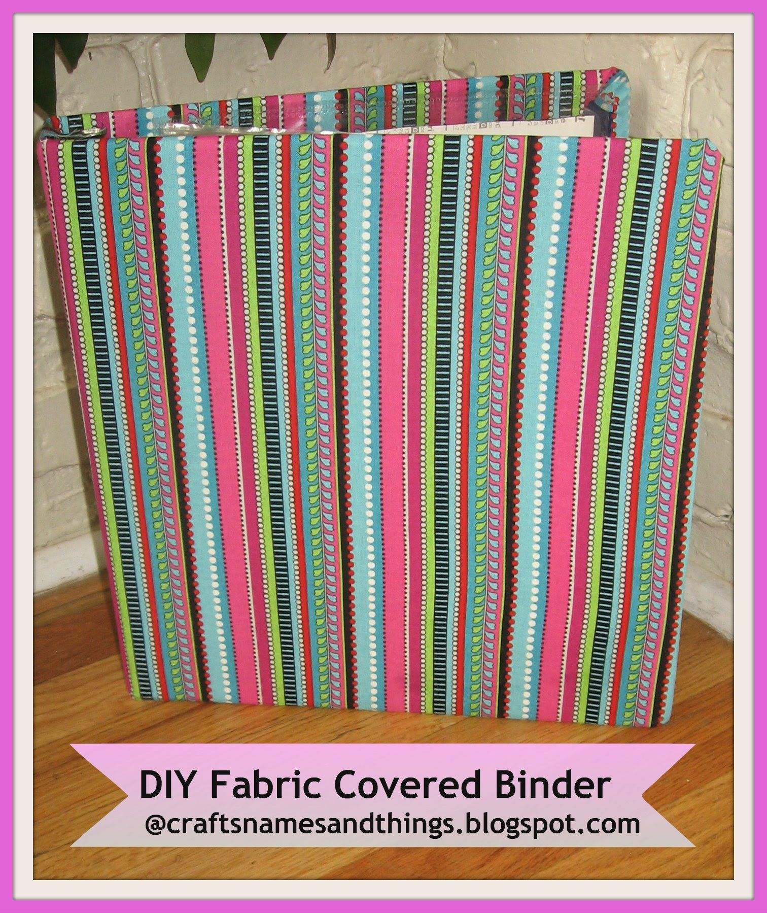 How To Decorate Binders/ How Make To Fabric Covered