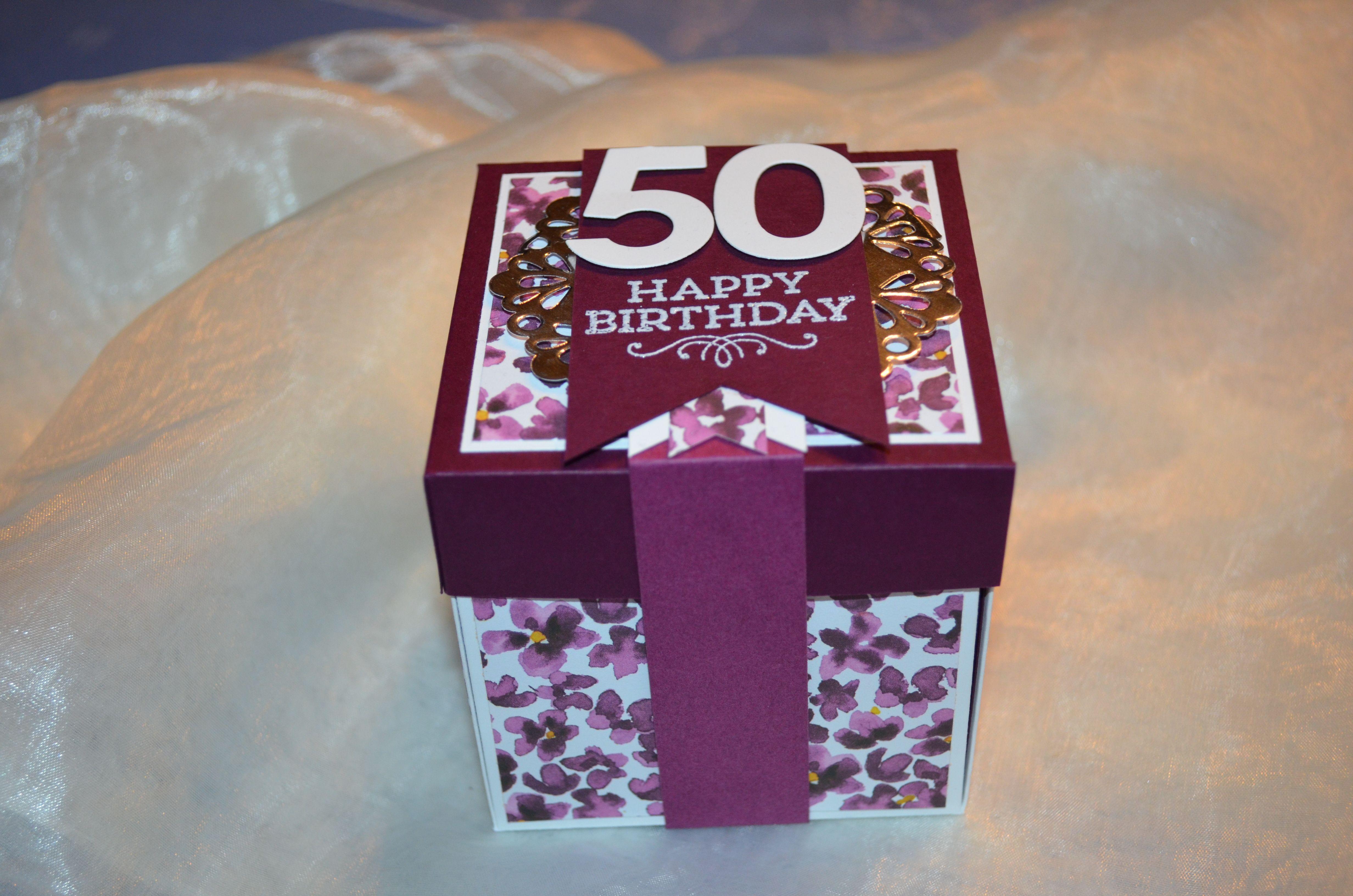 Explosionsbox zum 50 Geburtstag