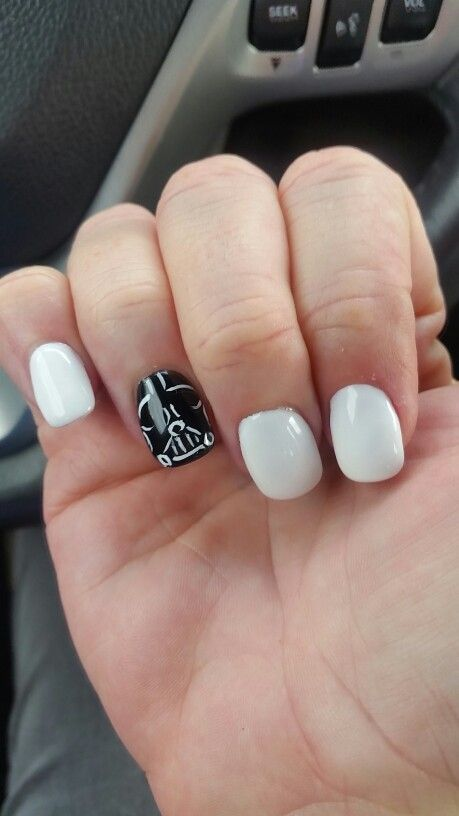 Star Wars Darth Vader nail art | ~Nail•Art~ | Pinterest | Star wars ...