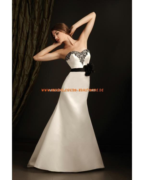 Sexy 2013 liebste Brautkleider aus Satin Meerjungfrau mit Applikation und Stickerei
