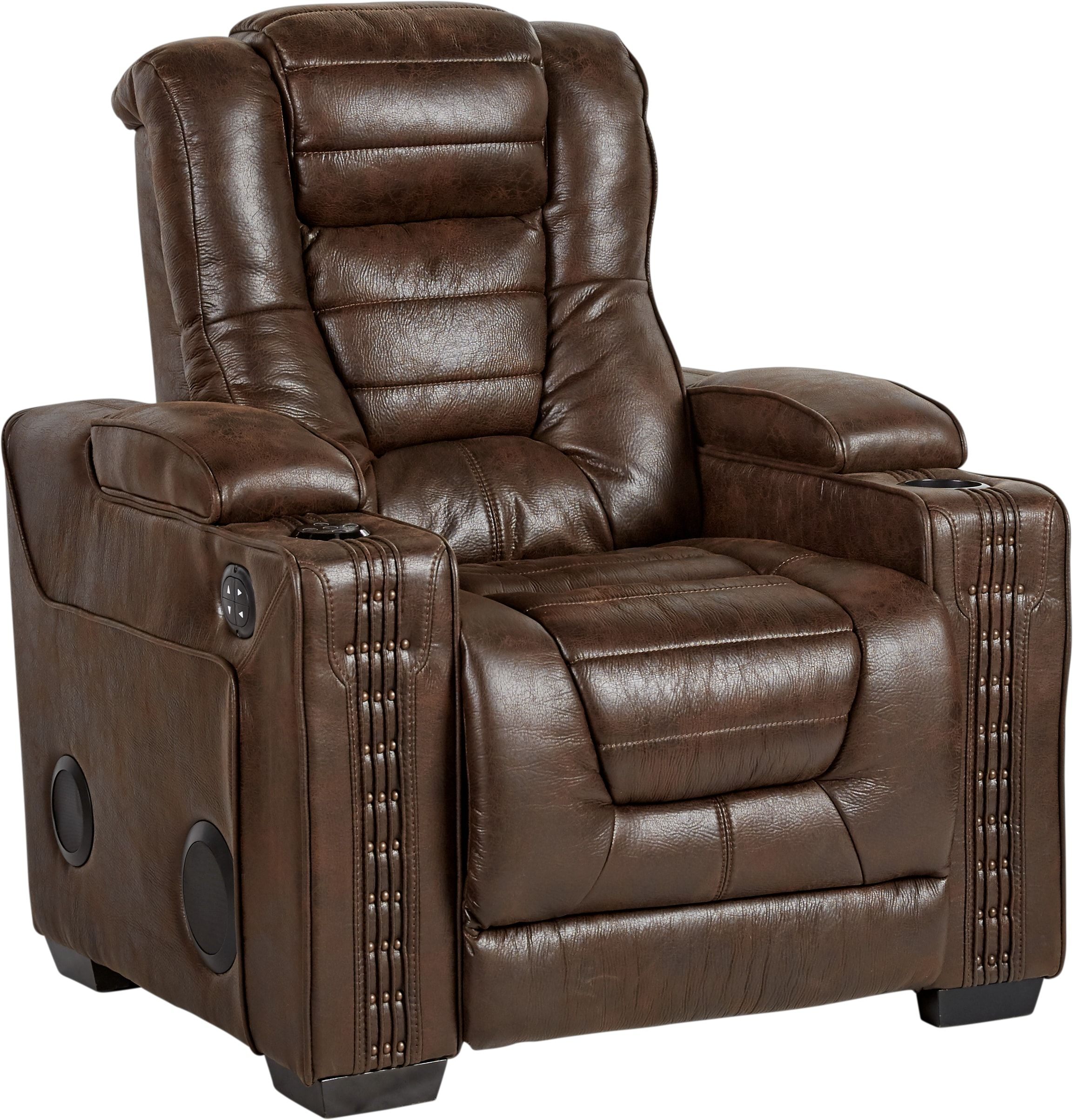 Swell Eric Church Highway To Home Chief Brown Power Plus Recliner Uwap Interior Chair Design Uwaporg