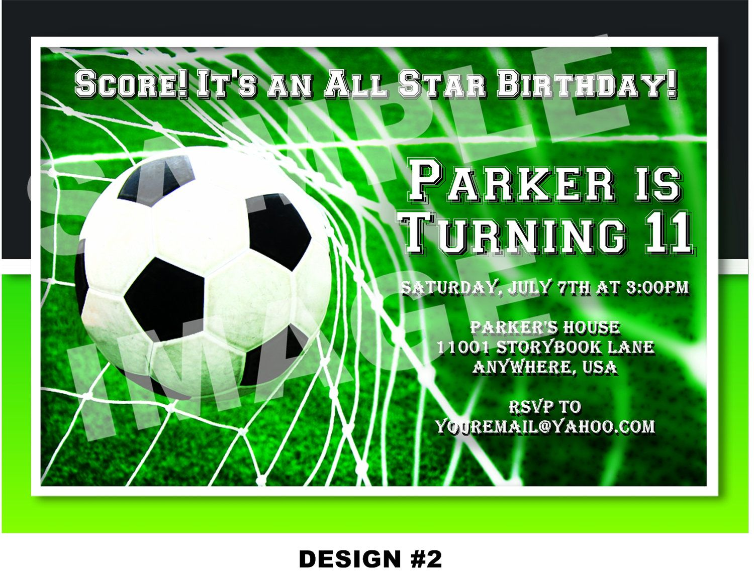 Free Soccer Party Invitation JC bday Pinterest – Football Party Invite