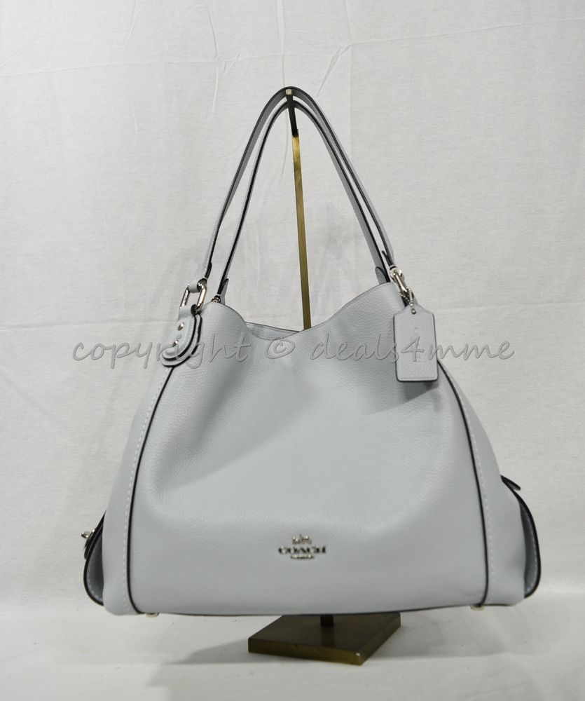 Details About Coach 57125 Edie Shoulder Bag 31 In Refined Pebble