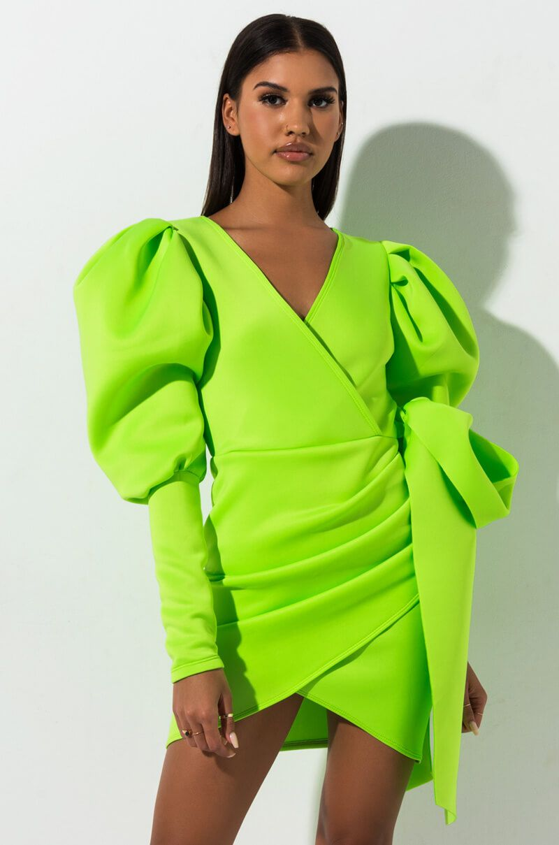 81c801f074e MADLY IN LOVE PUFFY SLEEVES MINI DRESS in 2019 | Products | Mini ...