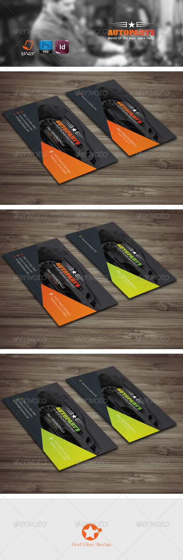 Auto Services Business Card Templates | Auto service, Card templates ...