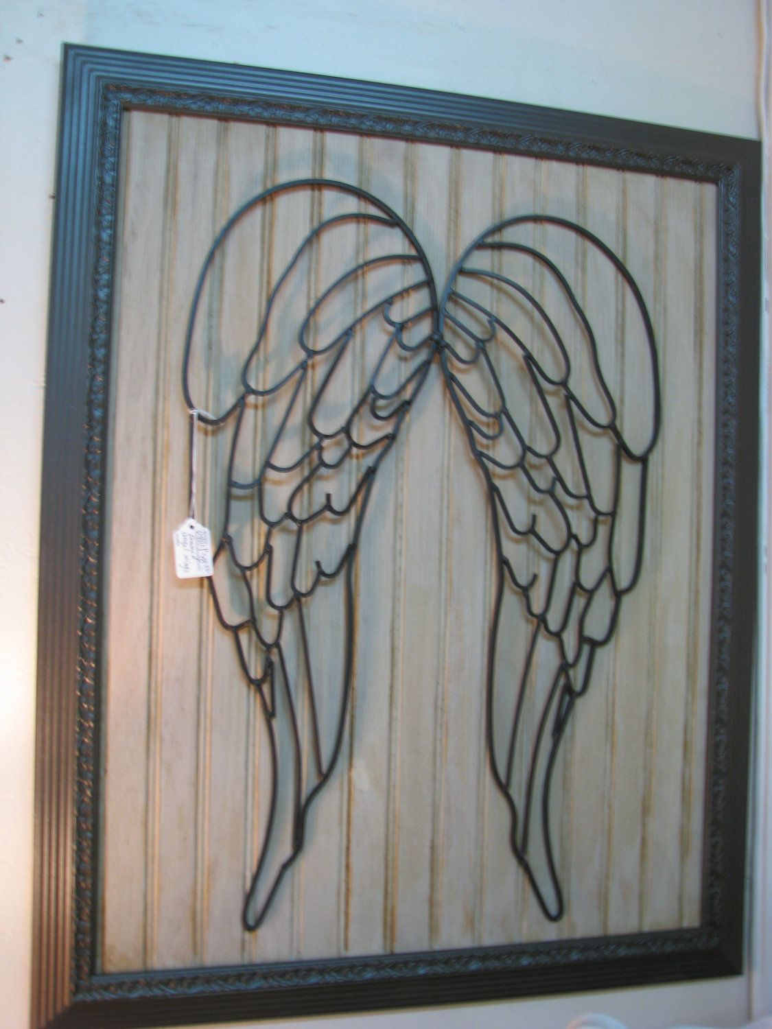 Shabby Chic, Rustic, Faith, Framed Angel Wings Home Decor Wall Art. $59.95