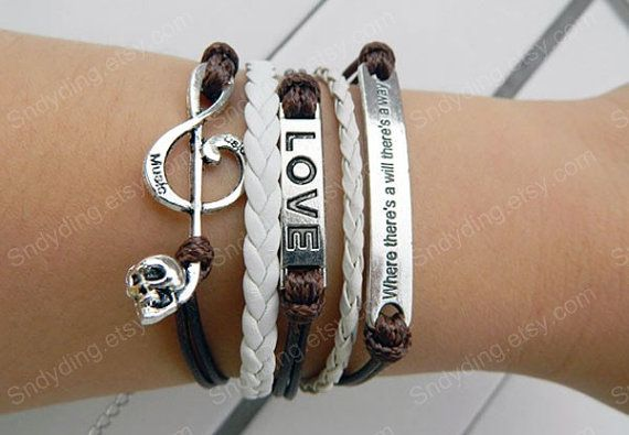 love bracelet music bracelet 'where there's a will by Colorbody, $6.29