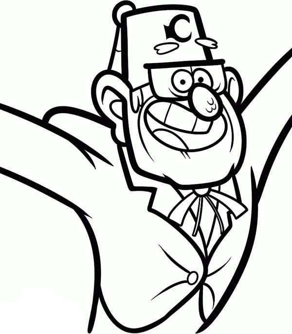 Grunkle Stan Gravity Falls Coloring Page Kids Play Color Fall Coloring Pages Stan Gravity Falls Coloring Pages