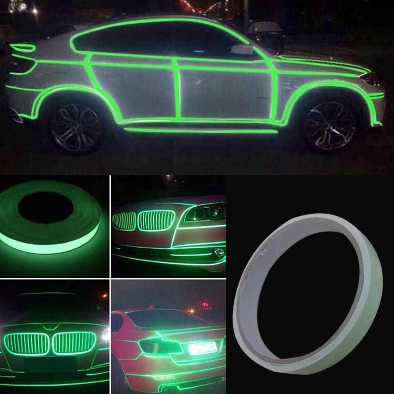 Car Luminous Tape Strip Sticker Rolling Car Exterior