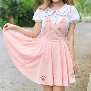c815b7c28e0 Kawaii Neko Cat Kitty Kitten Pleated Dress Dungarees Suspenders Skirt  Princess DDLG Little Space Chire by Kawaii Babe