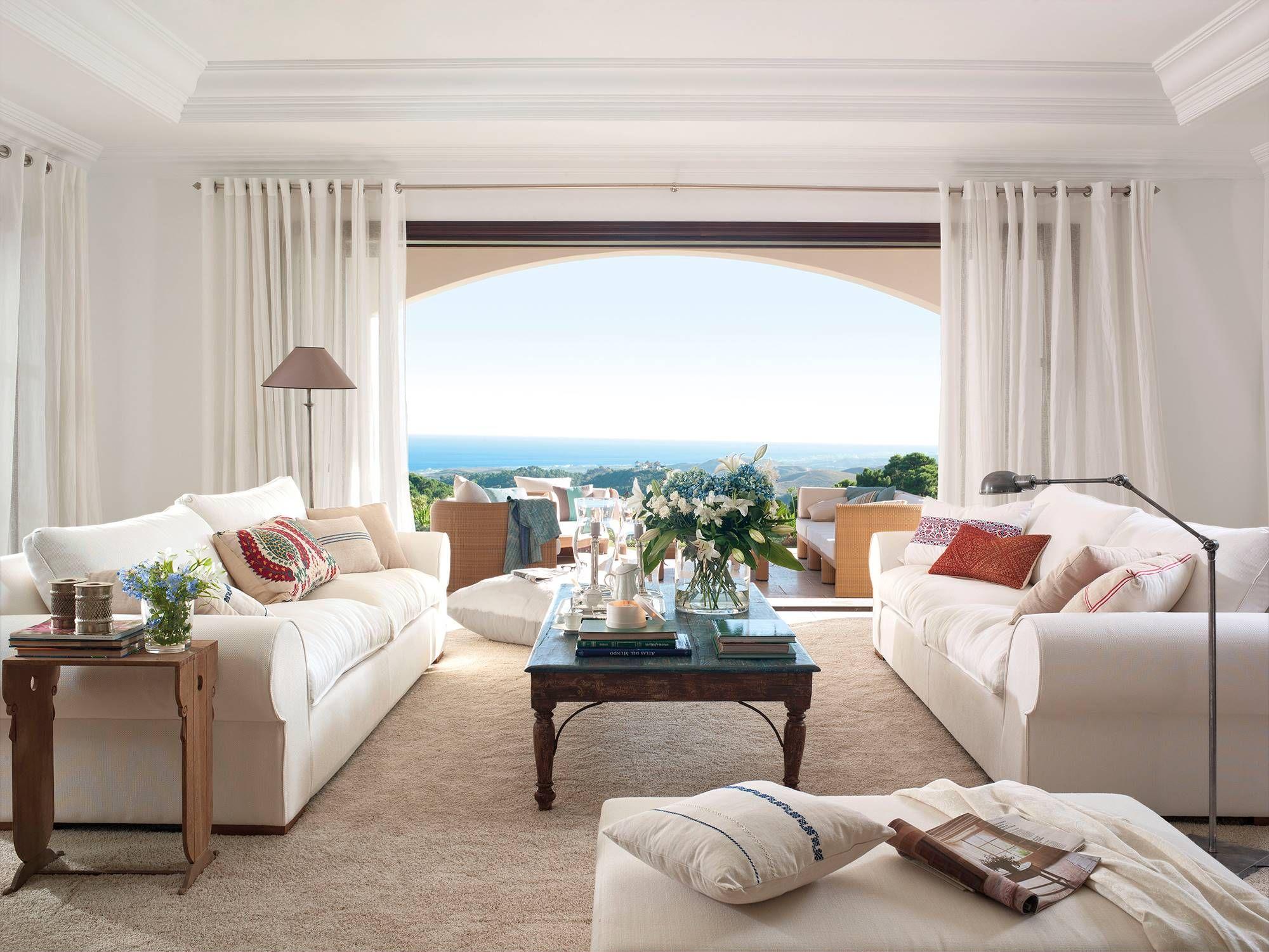 17 salones de verano con vistas al mar en 17  Canapé