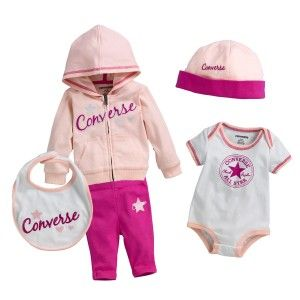 5b99523c51b0 CONVERSE 5 Piece Tracksuit Set Infant - Pink   White