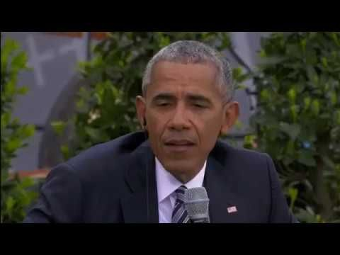 Barack Obama & Angela Merkel Speak in Berlin At Germany's Kirchentag
