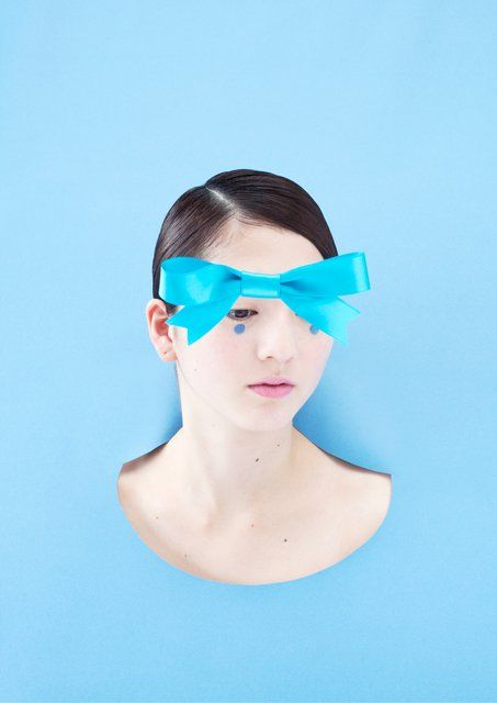 Ina Jang - a blue ribbon, Photograph