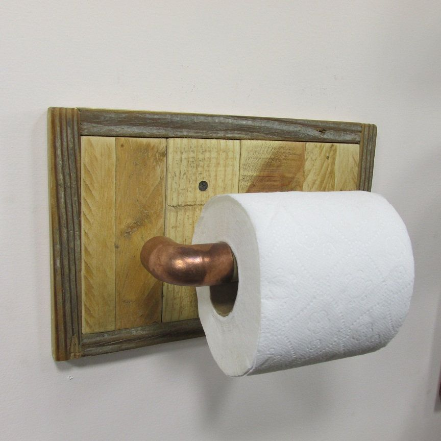 The Toilet Paper Holder Is Made From Using A Selection Of Woods From Recla Bathroom Toilet Paper Holders Wood Toilet Paper Holder Toilet Paper Holder