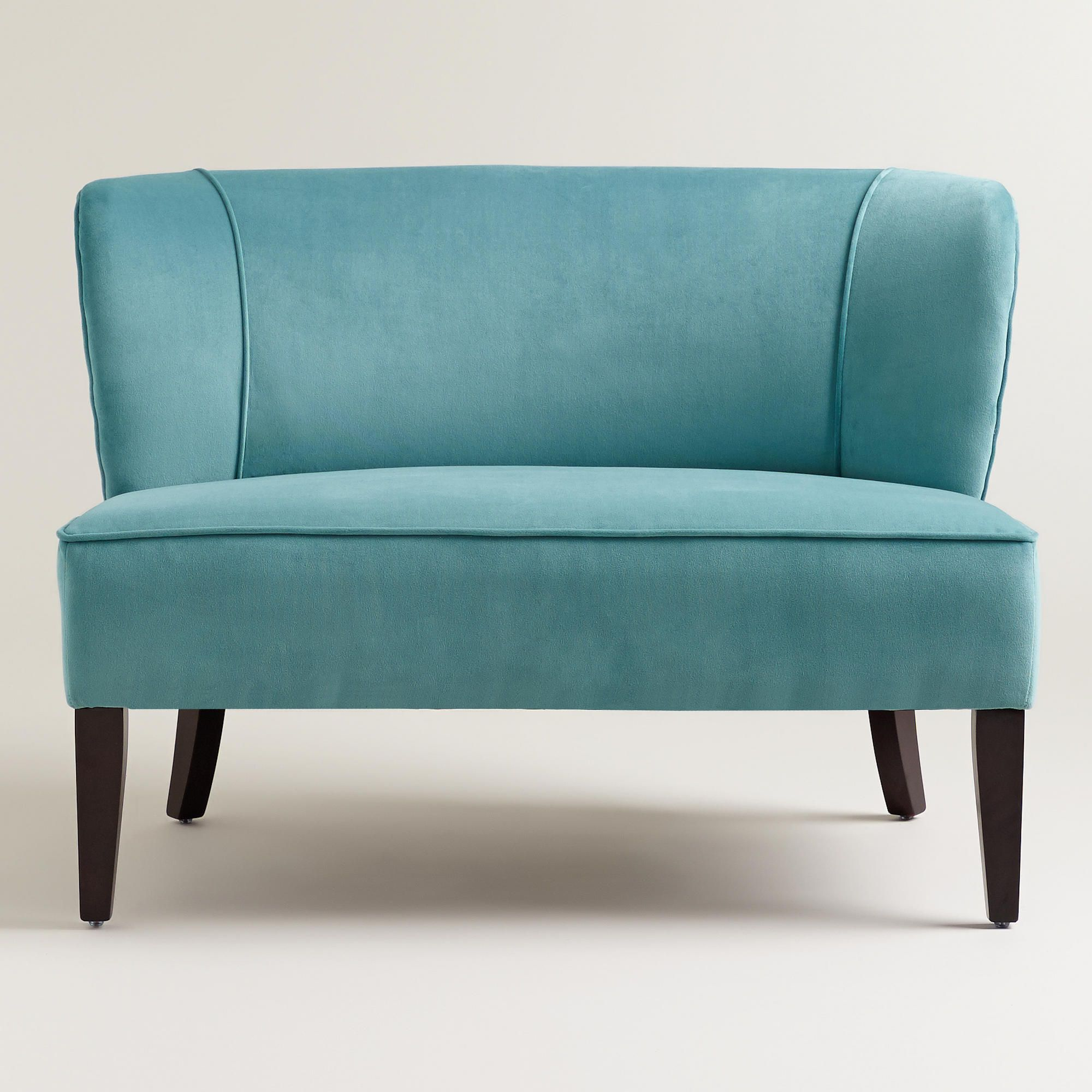 Caribbean Blue Quincy Loveseat World Market Features