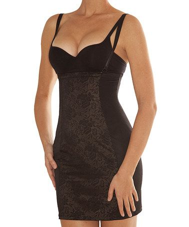 Look what I found on #zulily! Black Hold Me Shape Me Shaper Under-Bust Slip - Women #zulilyfinds