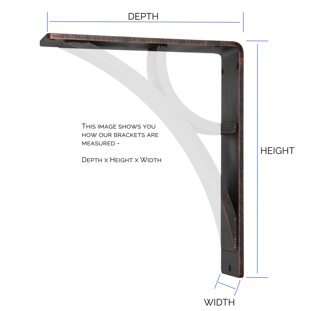 Willow Iron Corbel 3in Wide Countertop Support Bracket Ironsupports Natural Stone Counter Corbels Countertop Support Brackets