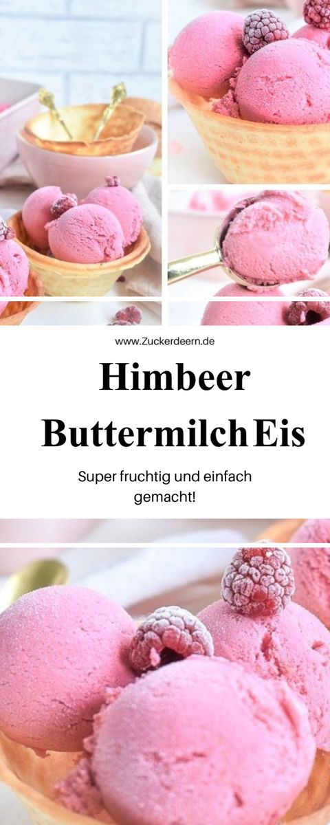 Photo of Himbeer Buttermilch Eis