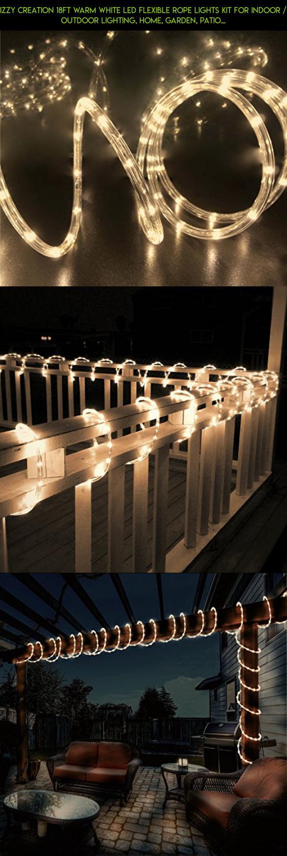 Izzy creation 18ft warm white led flexible rope lights kit for izzy creation 18ft warm white led flexible rope lights kit for indoor outdoor lighting aloadofball Images