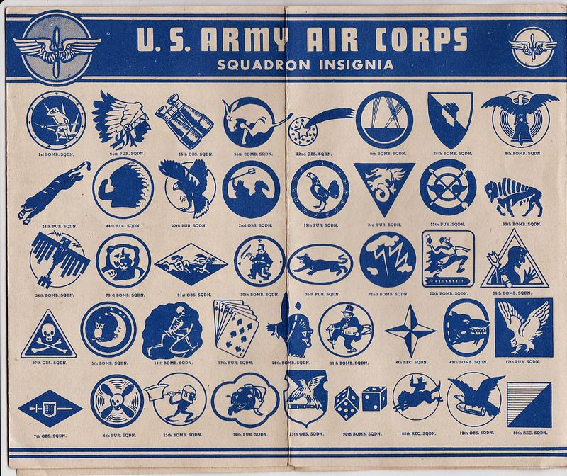 1945 US Army Air Corps Squadron Insignia Army, Us army