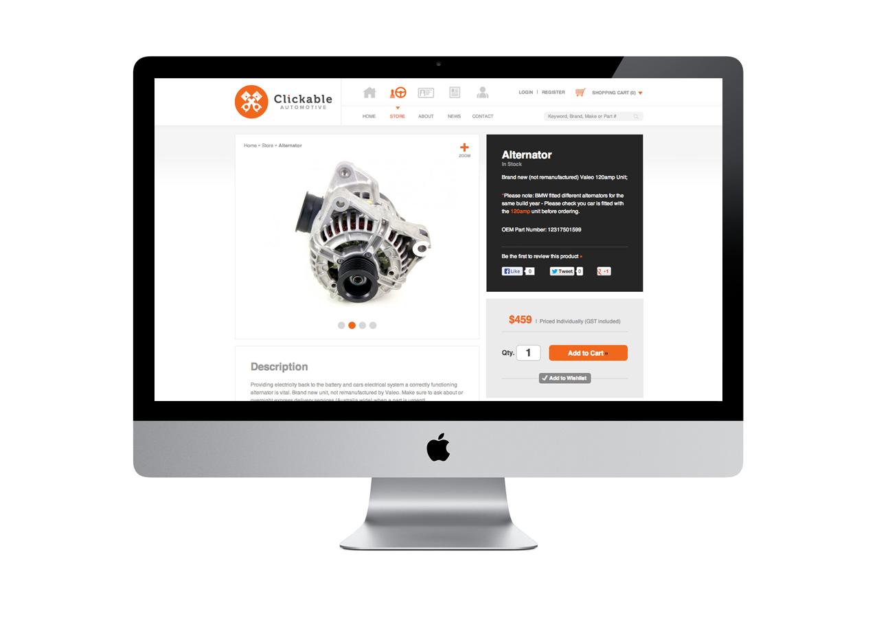 Clickable Automotive E-commerce & Branding | Brave People Case Studies | Brave People