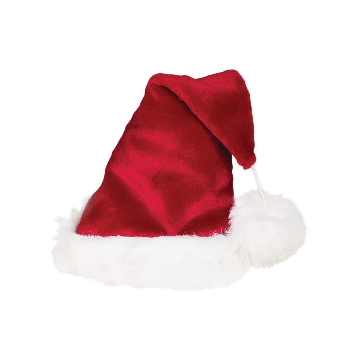 63f99399d07e2 Red Santa Hat with White Fur Trim and Pom - Adult Size