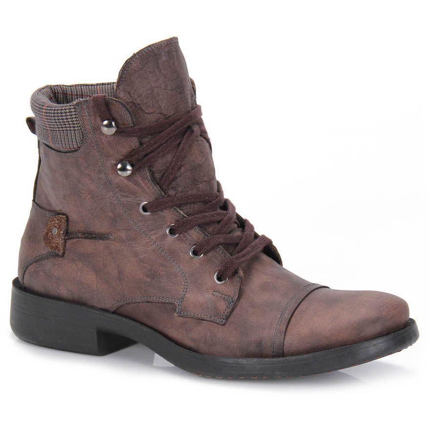 Bota Masculina Factum Bm32 - Chumbo - Passarela Calçados - Calçados online