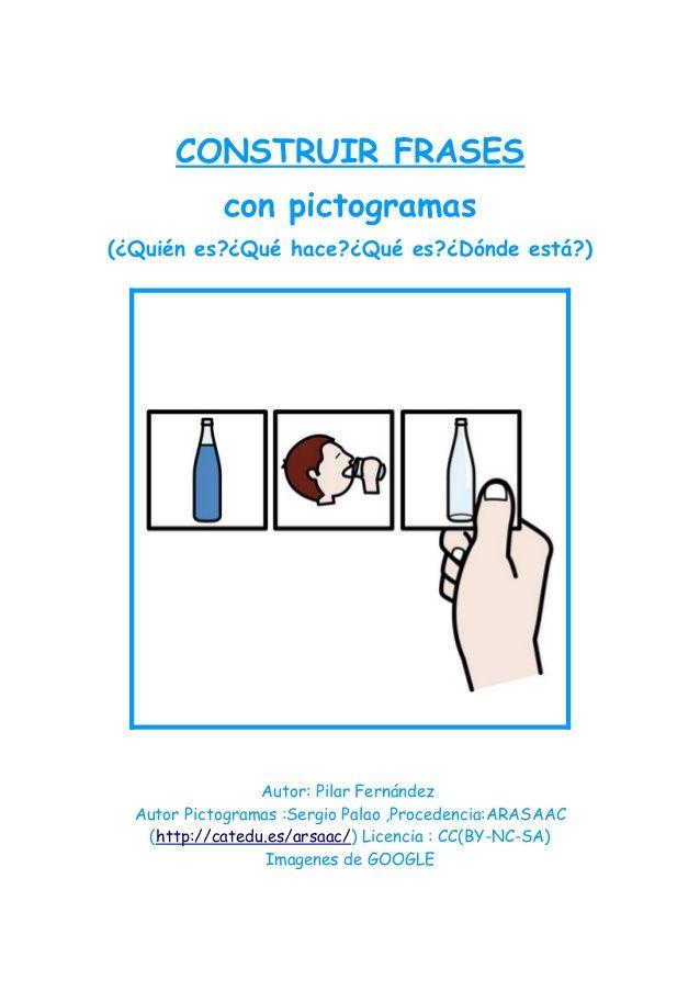 Construcción Frases Con Pictogramas Speech Therapy Speech