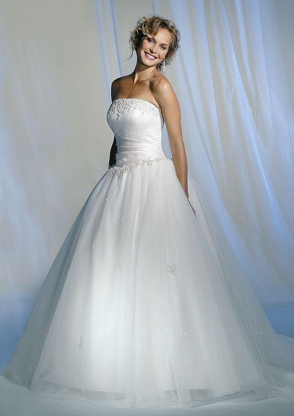 White Wedding Dresses | White Wedding Dress (RS-317) | long ...