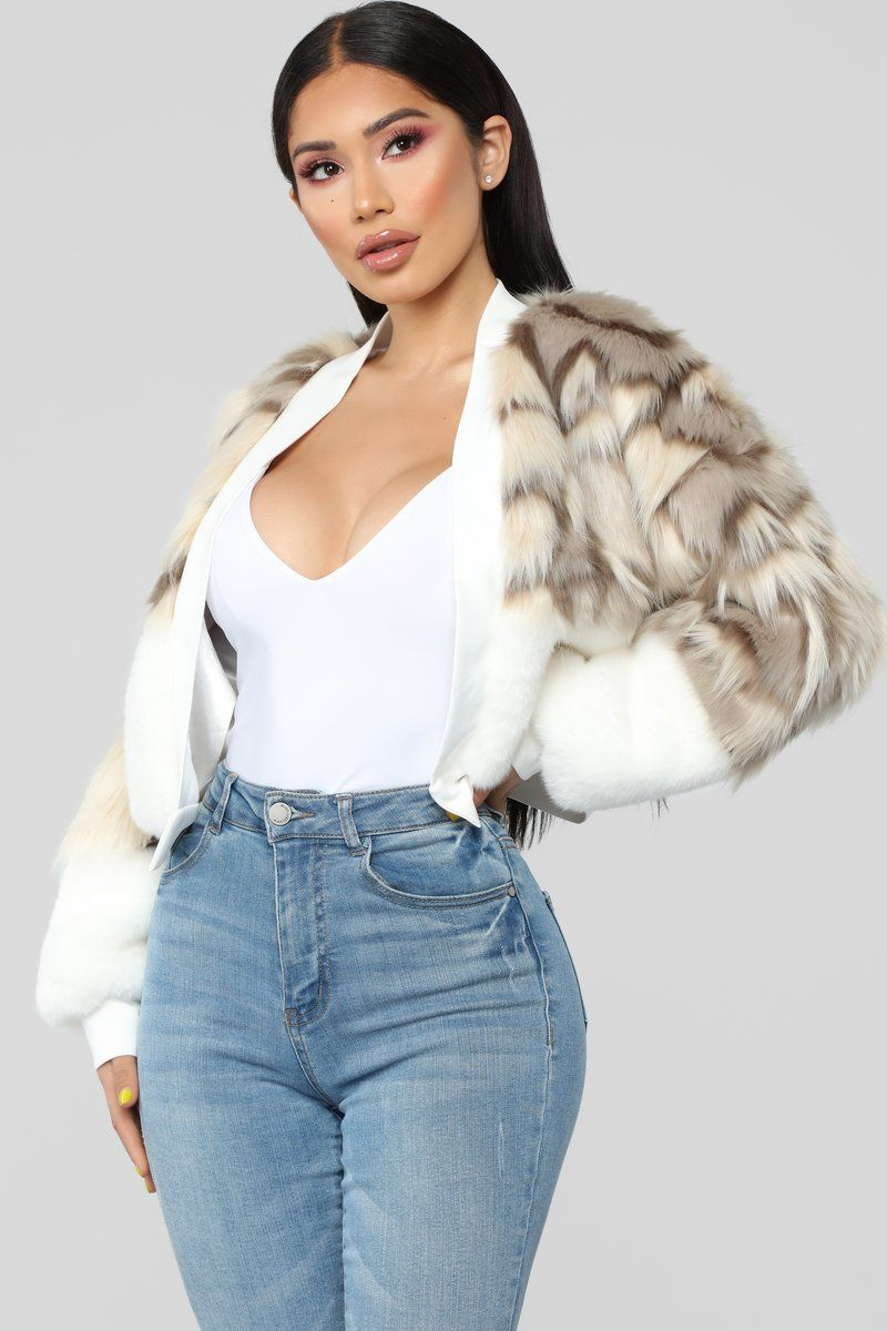 My Love Is Fur Real Jacket Ivory Fashion hacks clothes