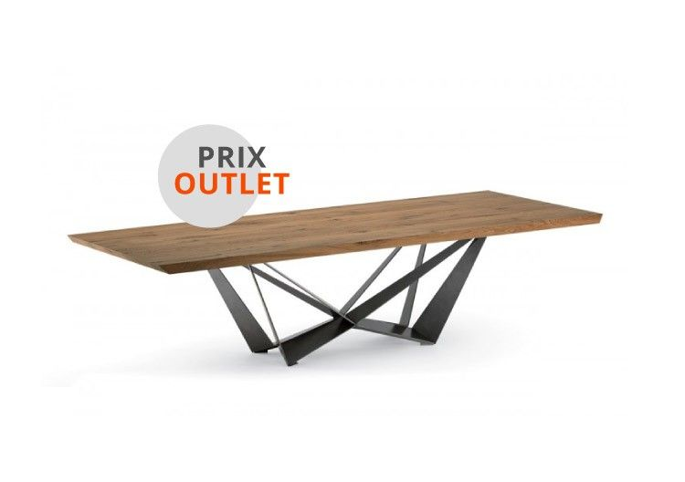 Table skorpio wood cattelan italia prix outlet for Mobilia outlet