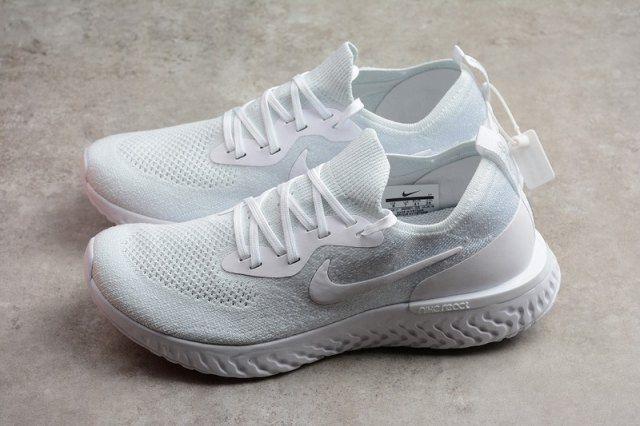 a4e04de645c8de Nike Epic React Flyknit White Pure Platinum AQ0067 102 Mens Womens Running  Shoes