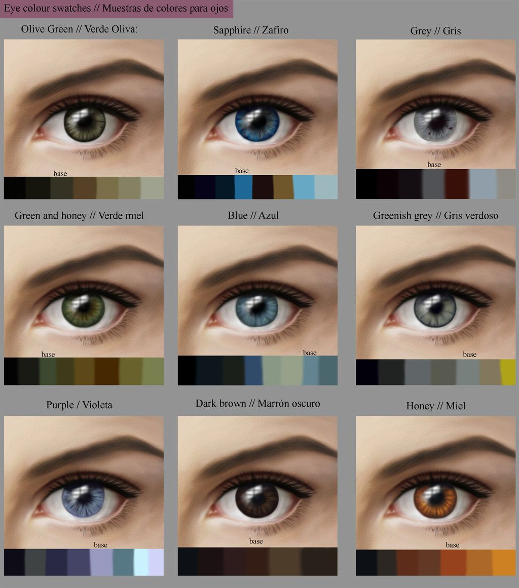 Eye Colour Swatches By Marinavictoria On Deviantart Eye Color Chart Eye Color Change Rare Eye Colors