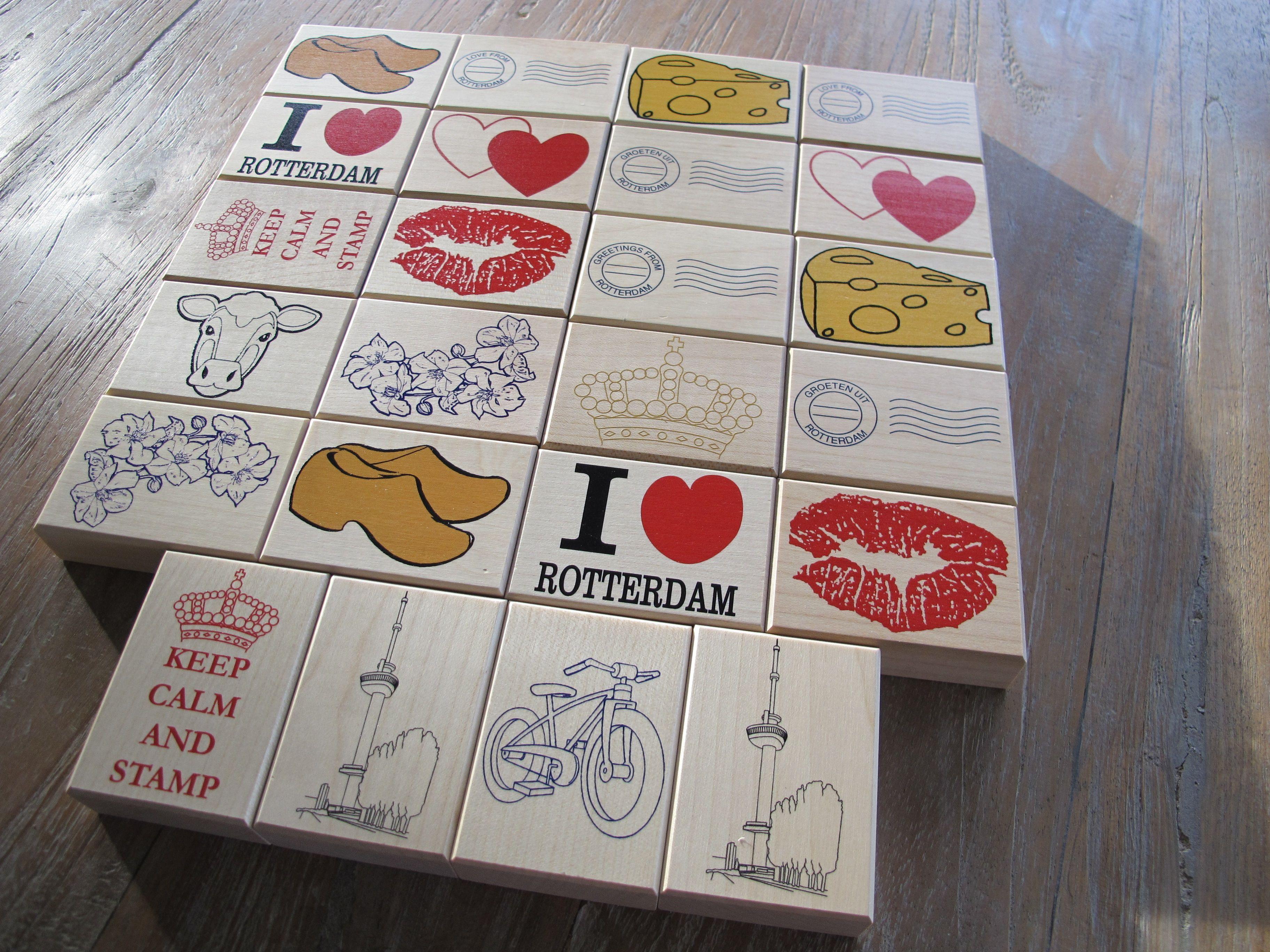 Gepersonaliseerde houten stempels voorzien van een full colour afbeelding
