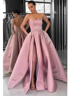 schöne lange abendkleider  abendkleid lang rosa günstig modellnummer dd0147  langes