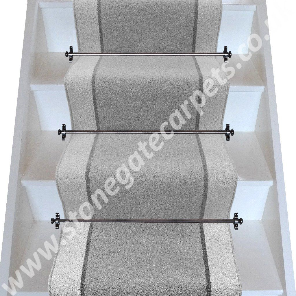 Plain Grey Stair Runner Designed With Brintons Carpet. Bespoke, British  Made To Measure Wool Rich Stair Carpet Runner With Matching Carpet For  Halls And ...