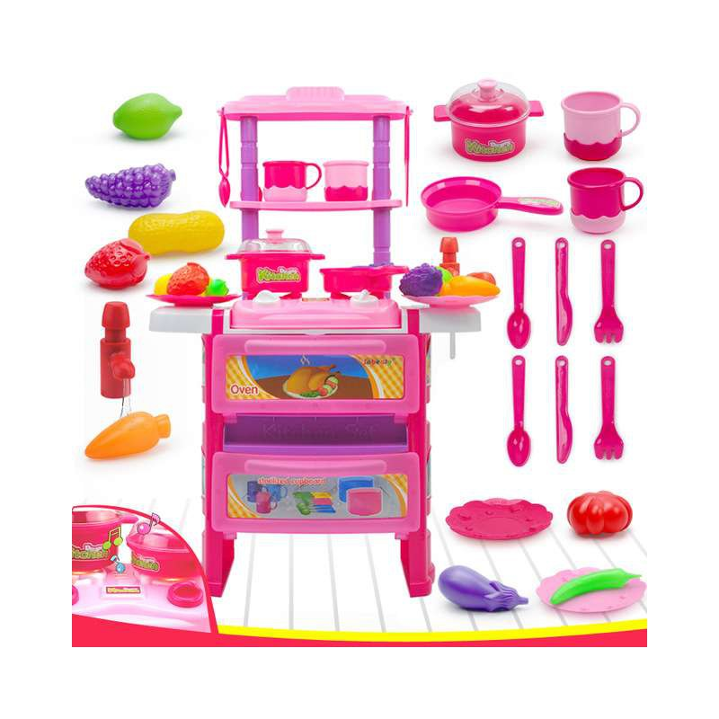 Children Kitchen Cooking Toy With Light Sound Large
