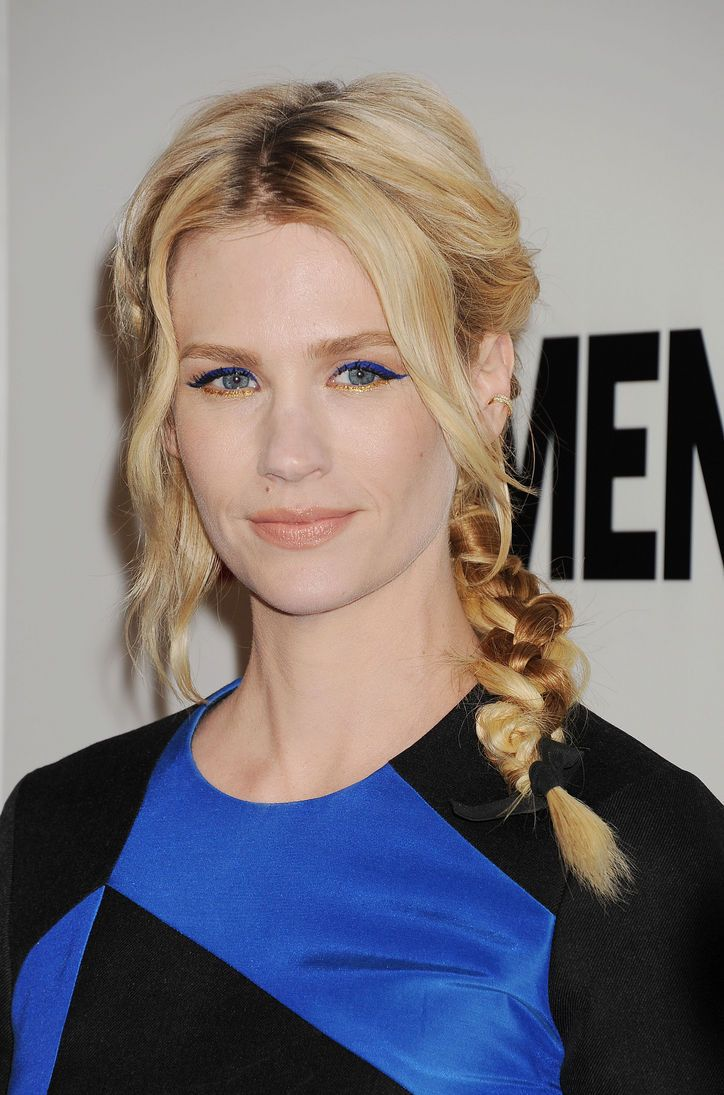 January Jones Wore the Most Weirdly Awesome Eye Makeup to the Mad Men Premiere Last Night