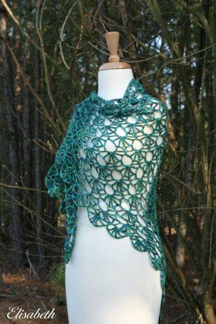 Triplecrochetpatterns Lacy Treble Crochet Shell Stitch Scarf