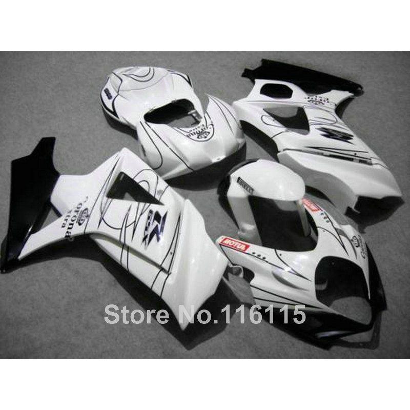 High Quality Abs Fairing Kit For Suzuki Gsxr 1000 2007 2008 K7 K8 White Black Corona Fairings Set 07 08 Gsxr1000 Js44 Suzuki Gsxr Gsxr 1000 Suzuki