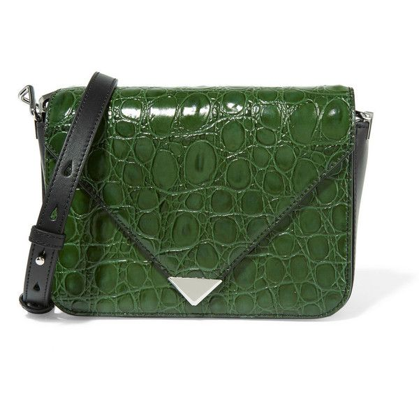 e1f93782067e Alexander Wang Prisma croc-effect leather shoulder bag (33.330 RUB) ❤ liked  on