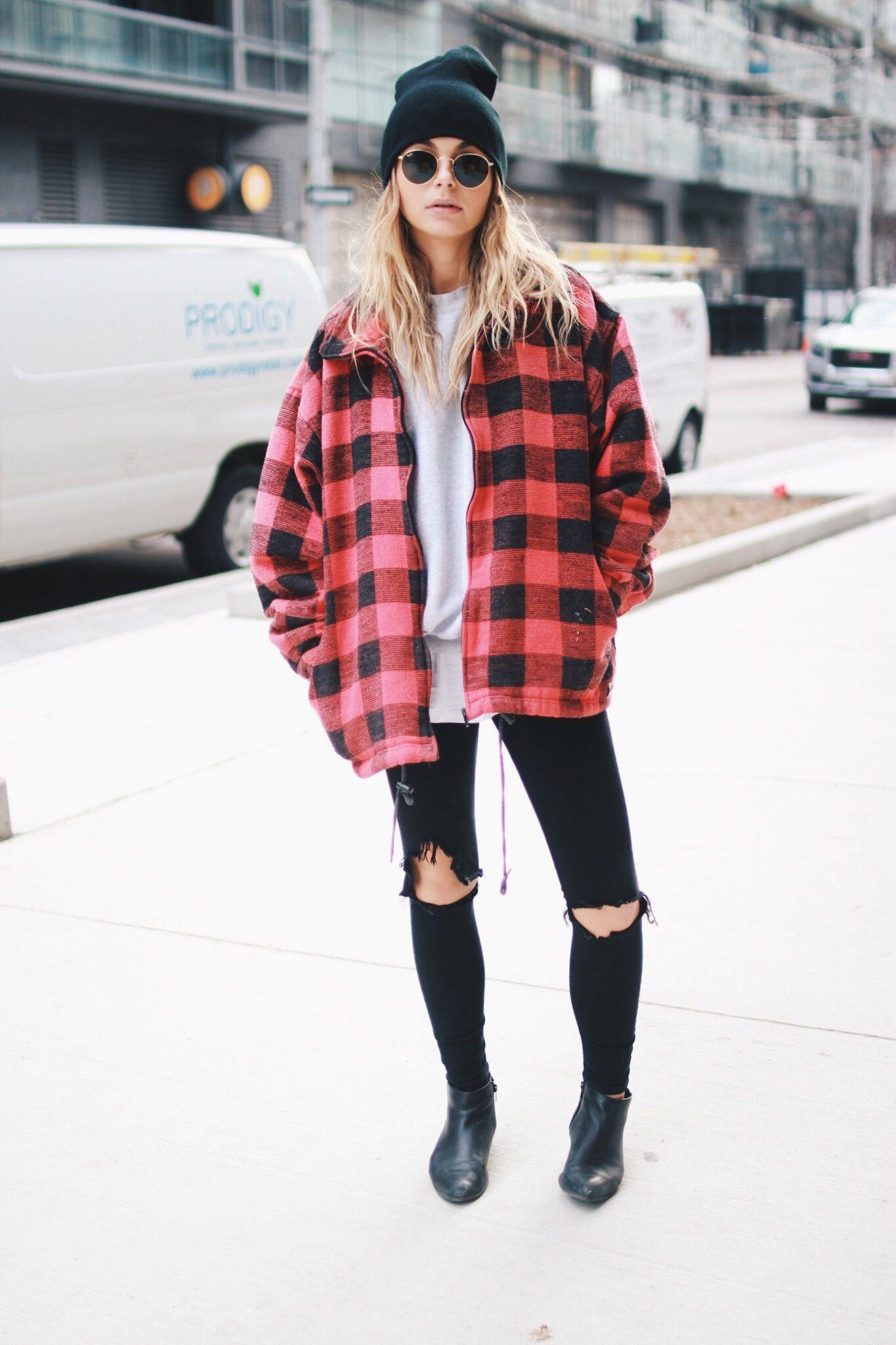 instagram: @allegrashaw | Grunge outfits winter, Cold