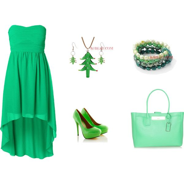 """""""Green Set"""" by anna99-486 on Polyvore"""